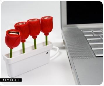 Букет USB-тюльпанов