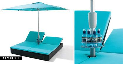 Зонтик с держателями для бутылок