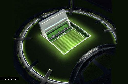 Первый в мире подземный стадион