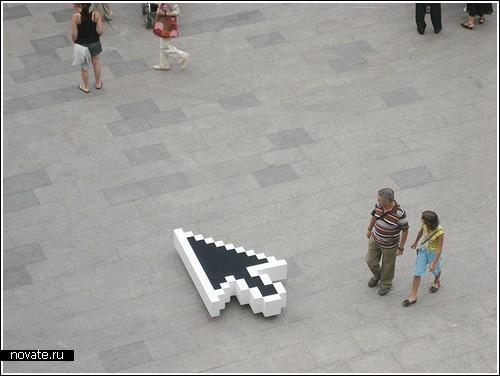 GPS-курсор на площади города Испании