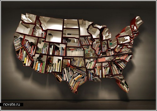 Полка в виде карты США