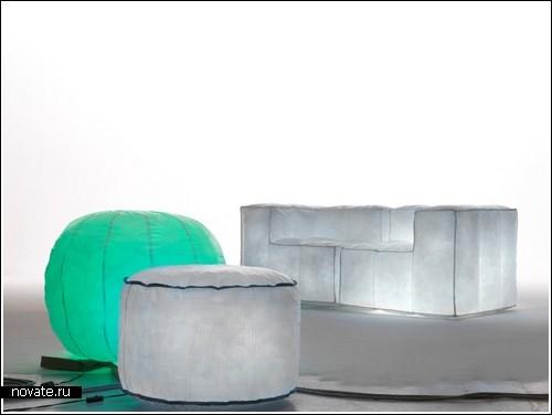 Надувная светящаяся мебель