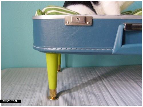 Чемодан превращается…кресло для любимого кота