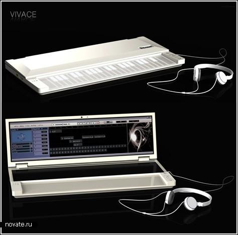 Синтезатор с интернетом и тачскрином