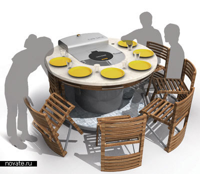 Печь барбекю на колесиках