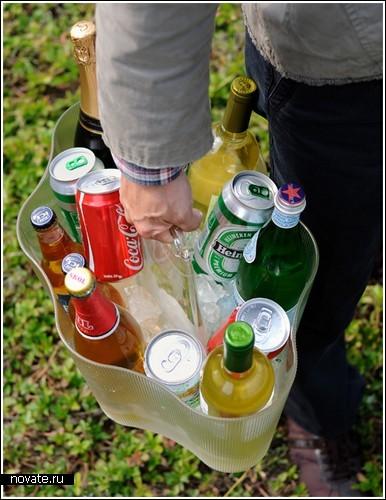 Сумка для бутылок с алкоголем