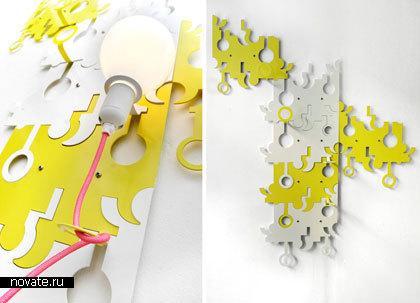 Лампа-мозаика «Wallop» от Proudly