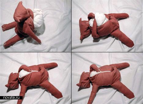 Плюшевая подушка.