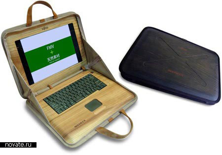 Ноутбук из дерева от Fujitsu