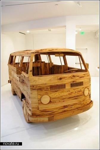 Деревянный автобус Volkswagen