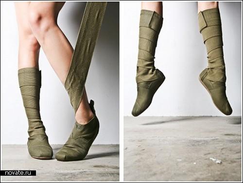 фото. обувь. сапоги.  Окутывающие сапоги от Toms.