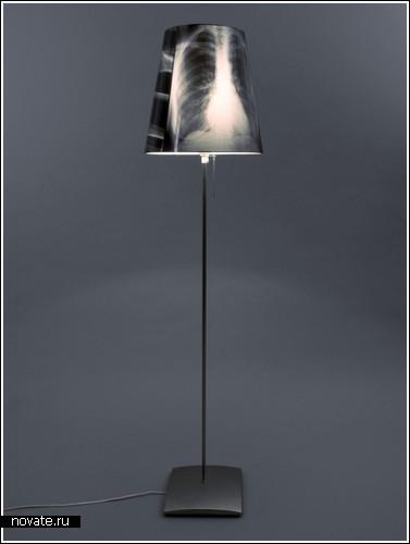 Лампа из рентгеновского снимка