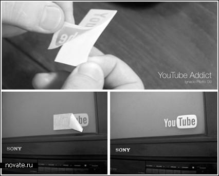 Стикеры с логотипом YouTube от Ignacio Pilotto