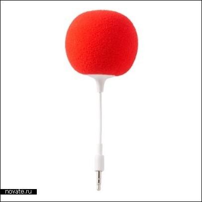 Клоунский носик для прослушивания музыки