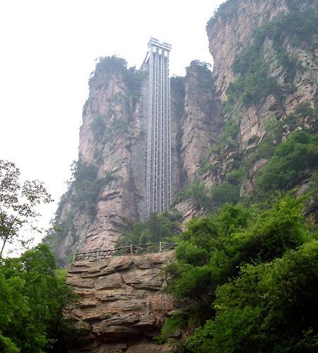 Самый высотный в мире горный лифт