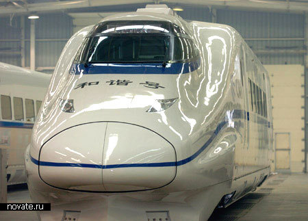 Китайский поезд China Railway High-speed (CRH2-300).