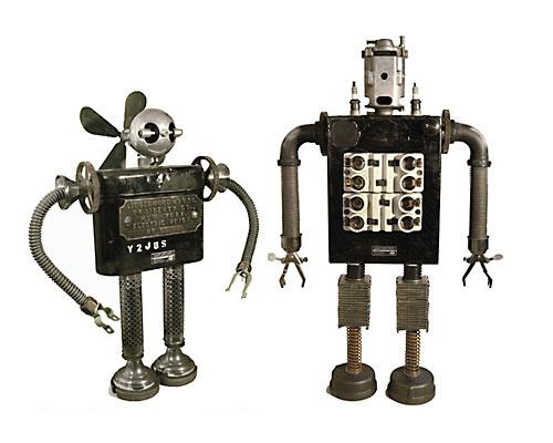 Скульптуры-роботы Гордона Бенета