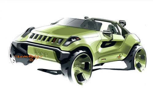 Эскиз Jeep Renegade