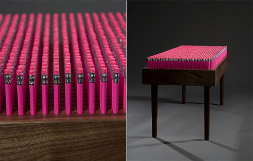Сиденье из карандашей Pencil Bench