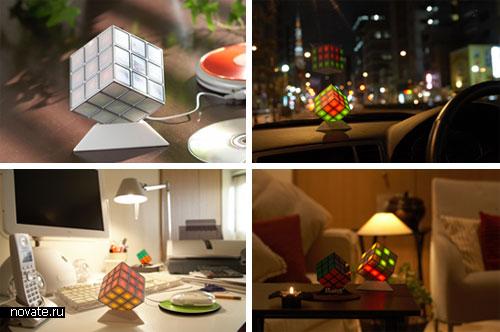 Illuminate Cube - настольные колонки со светомузыкой