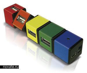 USB хаб в виде кубика Рубика