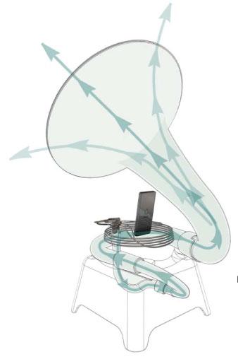Phonophone II - патефон на базе iPod от Science&Sons