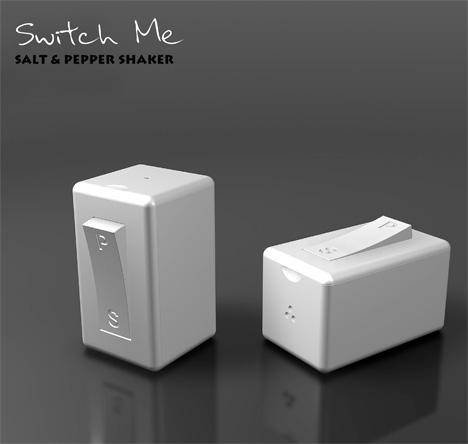 Switch me - перечница-солонка  от Chetan Sorab