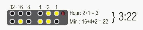 Двоичный режим часов Tibida