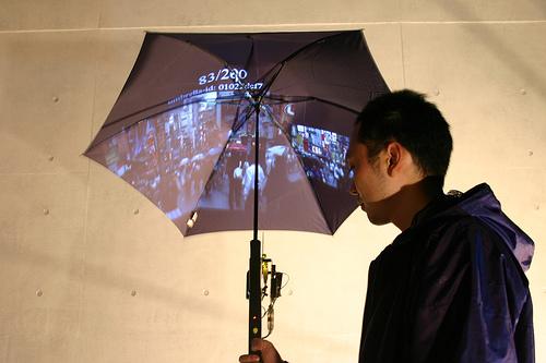 Зонт Pileus оснащен экраном