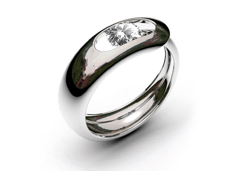 Кольцо-игла с бриллиантом, Gregoire Vandenbussche