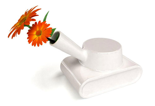 Ваза-танк для цветов, Gregoire Vandenbussche