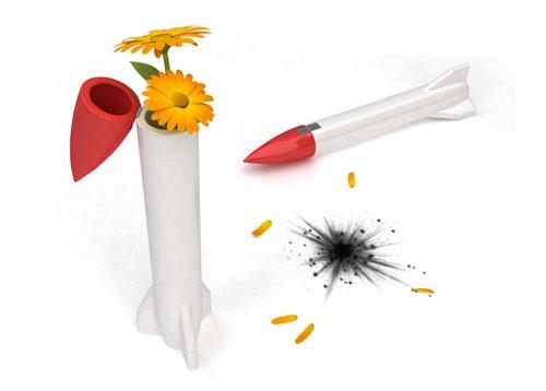 Ваза-ракета для цветов, Gregoire Vandenbussche