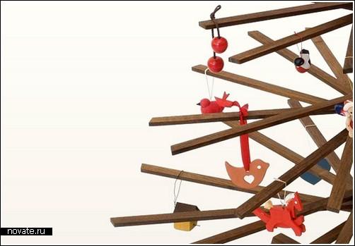 Стилизованное новогоднее дерево