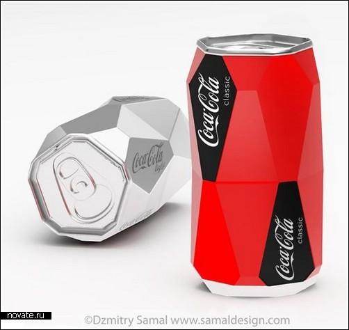 Концепт банки для Coca-Cola