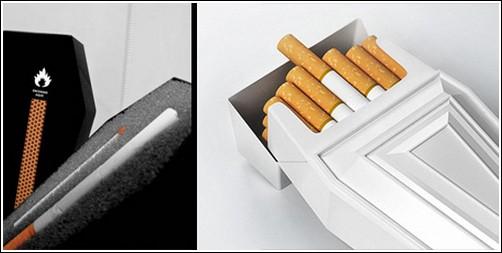 Пачка сигарет в форме гроба
