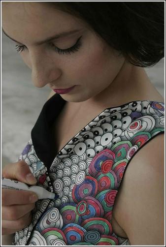 Платье-раскраска