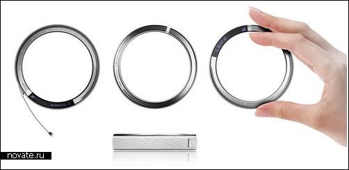 концептуальный телефон-браслет