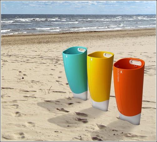 Концепт «пляжной» урны
