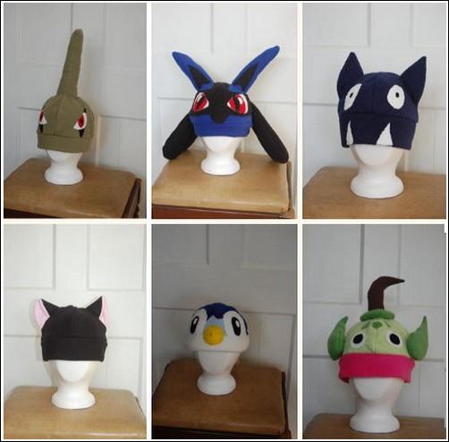 шапки в стиле покемонов