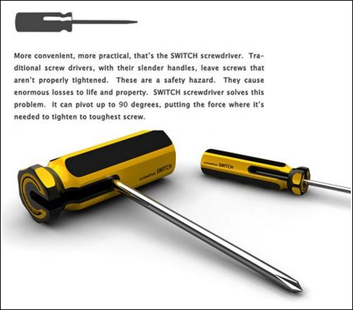Практичная отвёртка с поворачивающейся ручкой