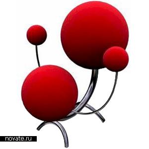 Планетарный стул из четырех шаров