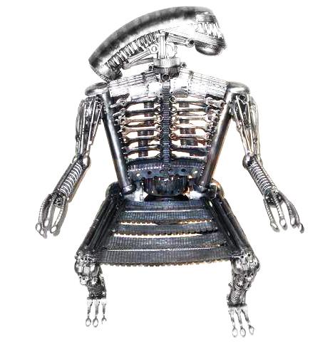 Инопланетная мебель из старых железок