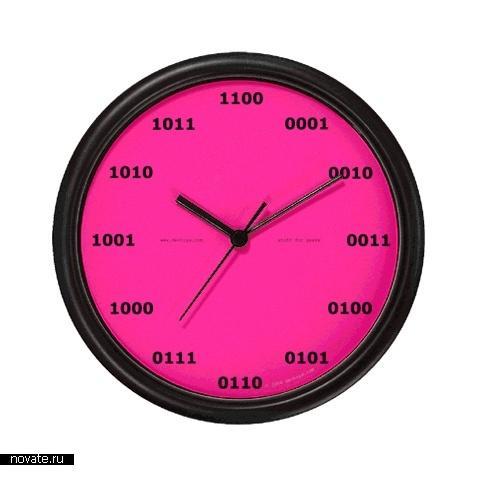 Часы в двоичной системе счисления