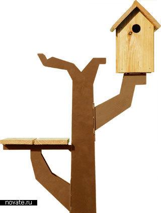 Искусственное дерево для птиц