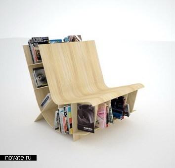 Полка для книг + скамейка