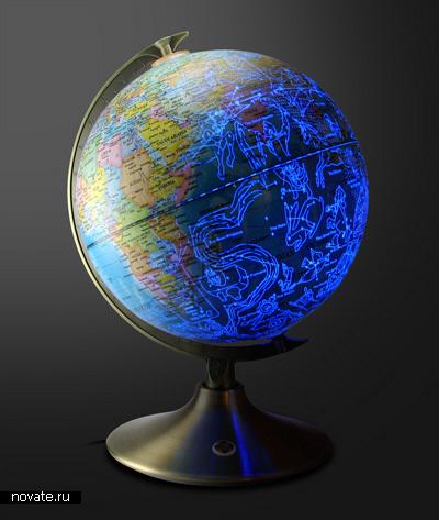Глобус с подсветкой в виде созвездий