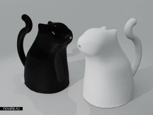Кувшины для горячих напитков в виде котят