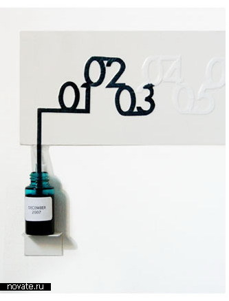 Календарь с чернилами