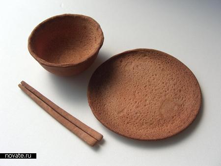 Посуда из галет
