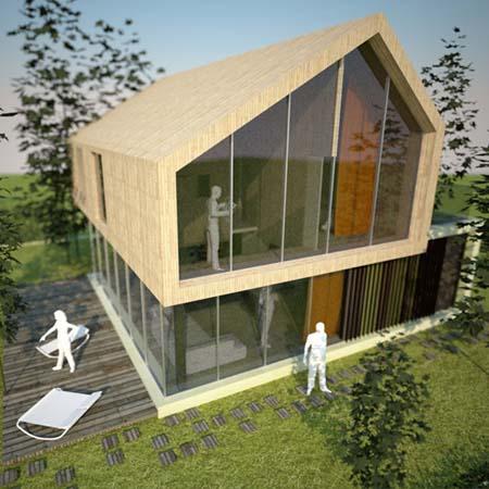 деревянный дом для одной семьи